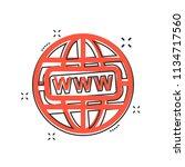 vector cartoon go to web icon... | Shutterstock .eps vector #1134717560
