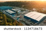 aerial view of warehouse... | Shutterstock . vector #1134718673