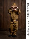 children are dressed as soldier ... | Shutterstock . vector #1134720770