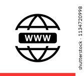 www vector icon  web symbol.... | Shutterstock .eps vector #1134720998