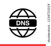 dns vector icon  network symbol.... | Shutterstock .eps vector #1134721019