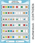 complete simple repeating... | Shutterstock .eps vector #1134742826