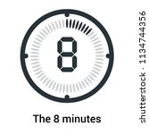 the 8 minutes icon isolated on... | Shutterstock .eps vector #1134744356