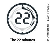 the 22 minutes icon isolated on ...
