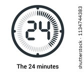the 24 minutes icon isolated on ... | Shutterstock .eps vector #1134744383