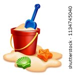 vector illustration   sand... | Shutterstock .eps vector #1134745040