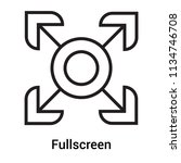 fullscreen icon vector isolated ...