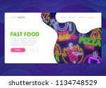colorful landing page. mock up...