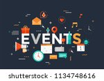 events lettering surrounded by... | Shutterstock .eps vector #1134748616