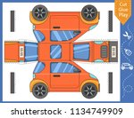 cut and glue the paper car.... | Shutterstock .eps vector #1134749909