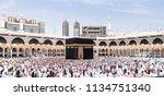 mecca  saudi arabia   may 07... | Shutterstock . vector #1134751340