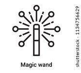 magic wand icon vector isolated ... | Shutterstock .eps vector #1134756629