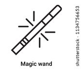 magic wand icon vector isolated ... | Shutterstock .eps vector #1134756653