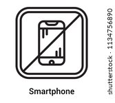 smartphone icon vector isolated ... | Shutterstock .eps vector #1134756890
