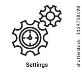 settings icon vector isolated... | Shutterstock .eps vector #1134758198