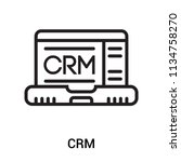 crm icon vector isolated on... | Shutterstock .eps vector #1134758270