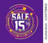 sale discount label  beautiful... | Shutterstock .eps vector #1134758843