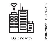 building with antenna icon...   Shutterstock .eps vector #1134762518