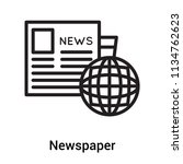 newspaper icon vector isolated...   Shutterstock .eps vector #1134762623