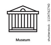 museum icon vector isolated on... | Shutterstock .eps vector #1134762740