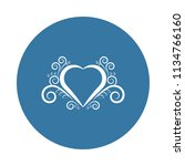 heart ornament icon. element of ... | Shutterstock . vector #1134766160