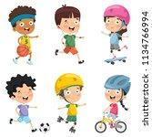 vector illustration of kids...   Shutterstock .eps vector #1134766994