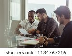 businessmen discussing work... | Shutterstock . vector #1134767216