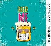beer me vector concept...   Shutterstock .eps vector #1134767228