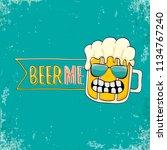 beer me vector concept...   Shutterstock .eps vector #1134767240