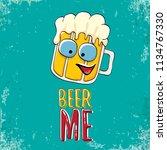 beer me vector concept...   Shutterstock .eps vector #1134767330
