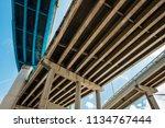 skyward view of interstate 95... | Shutterstock . vector #1134767444