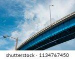 skyward view of interstate 95...   Shutterstock . vector #1134767450