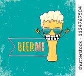 beer me vector concept...   Shutterstock .eps vector #1134767504