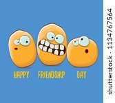 vector friends tiny potato... | Shutterstock .eps vector #1134767564