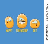 vector friends tiny potato... | Shutterstock .eps vector #1134767579
