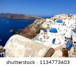 beautiful city of oia in... | Shutterstock . vector #1134773603