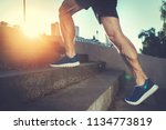 sport hard. close up of male... | Shutterstock . vector #1134773819