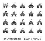 circus tent glyph icons set.... | Shutterstock .eps vector #1134775478