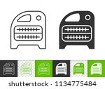 domestic heater black linear... | Shutterstock .eps vector #1134775484