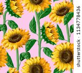 seamless pattern with... | Shutterstock .eps vector #1134778436