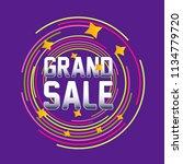 grand sale  beautiful label ... | Shutterstock .eps vector #1134779720