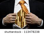 venality businessman or banker  ... | Shutterstock . vector #113478238