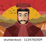 great asian chinese general... | Shutterstock .eps vector #1134783509