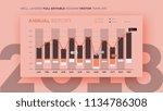 full editable infographic chart.... | Shutterstock .eps vector #1134786308