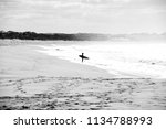 Black   White Surfer On The...
