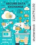 internet data secure exchange... | Shutterstock .eps vector #1134791150