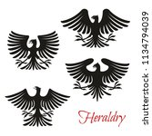 heraldic eagle symbol set of... | Shutterstock .eps vector #1134794039