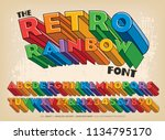 a three dimensional block... | Shutterstock .eps vector #1134795170