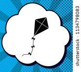 kite sign. vector. black icon... | Shutterstock .eps vector #1134798083