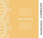 invitation or card templates...   Shutterstock .eps vector #1134801233